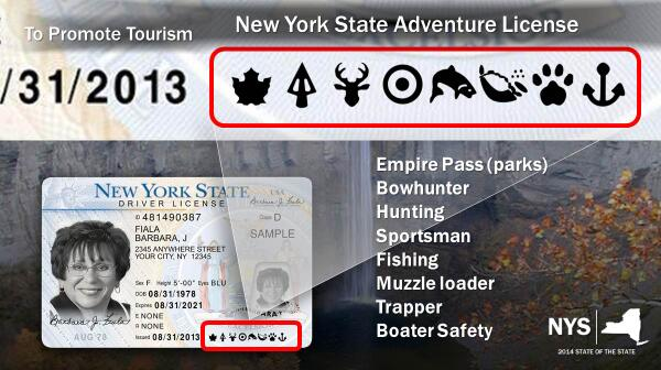 New york will add hunting and fishing permits to driver s for Renew fishing license