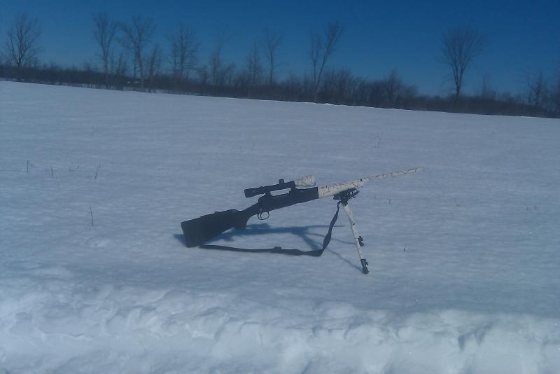 Diy cheap easy snow camo job diy do it yourself for Snow bear ice fishing