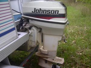 50hp 1997 johnson outboard motor w controls - Non Hunting