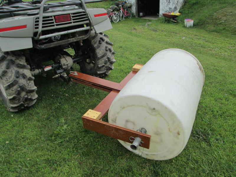 Homemade Towable Food Plot Seed Roller Land Management