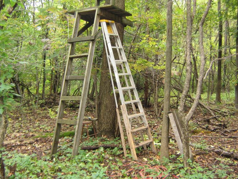 R r permanent stand made easy diy do it yourself for Permanent tree stand