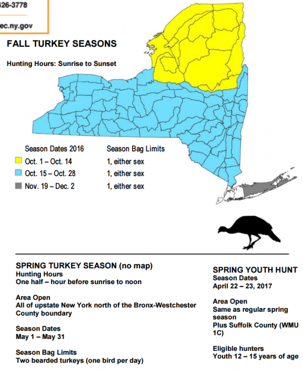 2016 17 new york state hunting season dates nys dec news for Nys fishing seasons